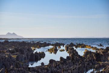 Paisaje de rocas en las Islas Cíes